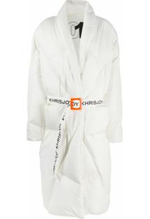 Khrisjoy Casaco Matelassê Robe Com Cinto - Branco