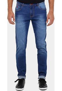 Calça Jeans Skinny Forum Igor Indigo Masculina - Masculino-Jeans