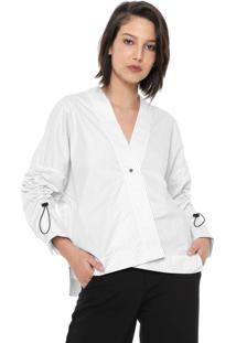 Camisa Osklen Transpasse Listra Branca/Preta