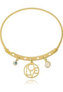 Bracelete Le Diamond Patuá Amor Dourado - Kanui
