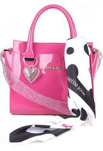 Bolsa Petite Jolie Love Transversal Feminina - Feminino-Pink