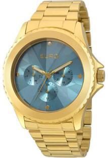 511b6ac4547 Zattini. Relógio Dourado Feminino Technos Vidro Manual ...