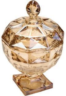 Bomboniere De Cristal Âmbar 14Cm Diamant Wolff