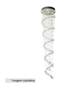 Hevvy Plafon Spirale Cristal & Inox 180Xã¸40Cm Bivolt