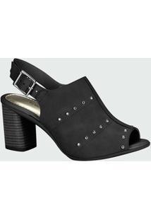 Sandália Feminina Open Boot Tachas Mississipi X9131