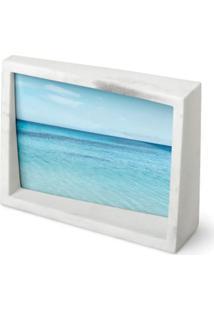 Porta Retrato Edge 10X15 Cm Resina Branco Umbra