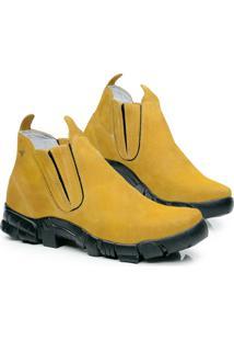 Botina Em Couro Rafale Colorado Segurança 2100 - Masculino-Amarelo