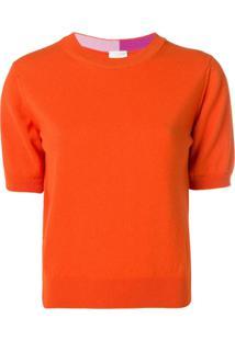Paul Smith Blusa De Tricô Com Decote Arredondado - Laranja
