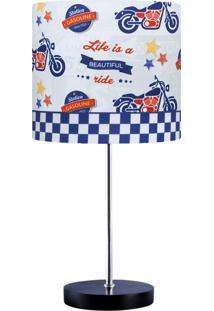 Abajur Infantil Carambola Highway Motos Azul