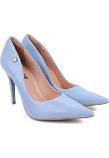 Scarpin Colcci Bico Fino Salto Alto Ll Feminino - Feminino-Azul Claro