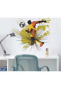 Adesivo De Parede Balihai Stickers Atacante Colorido 76 Cm X 90 Cm