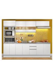 Cozinha Completa Madesa Atenas 10 Portas 3 Gavetas (Sem Tampo E Pia) Branco