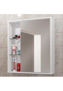 Armário De Banheiro Aéreo 1 Porta Com Espelho Miami 2075187 Branco - Bechara Móveis