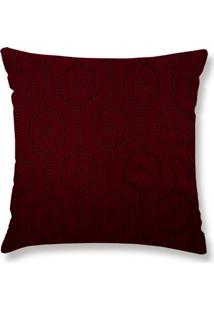 Capa De Almofada Lartex Jacquard Leather Vermelho