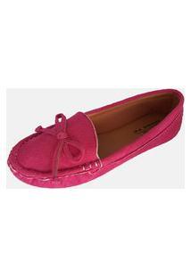 Sapatilha Mocassim Moda Pé Costurado À Mão Pink