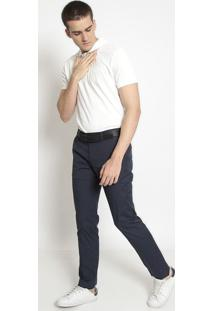 Polo Slim Fit Em Piquê- Off Whitelacoste