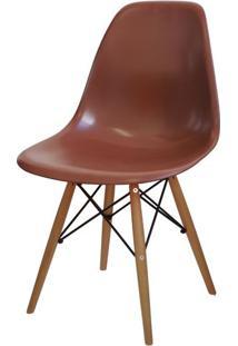 Cadeira Eames Polipropileno Cafe Base Madeira - 14915