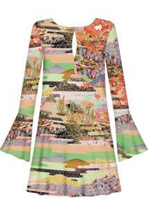 Vestido Manga Longa Estampado Vale - Lez A Lez