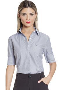 512750990 10 Ir para a loja; Camisa Social Feminina Listrada Principessa Lorene