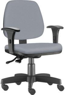 Cadeira Giratória Executiva Lyam Decor Job Corino Cinza