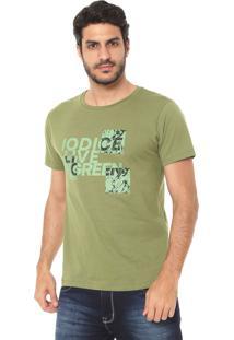 Camiseta Iódice Estampada Verde