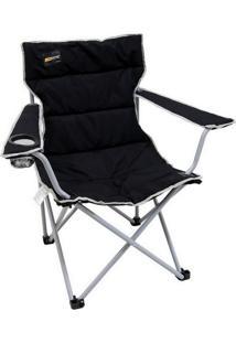 Cadeira Dobrável Boni Com Porta Copo - Nautika-Preto