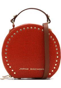 Bolsa Couro Jorge Bischoff Croco Vermelha