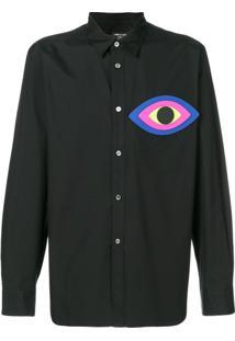 Comme Des Garçons Homme Plus Camisa 'Olho' Com Patch - Preto