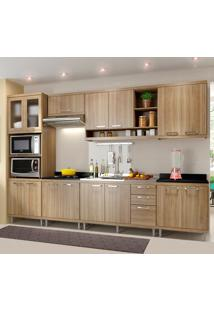 Cozinha Completa Sem Tampo 15 Portas 5834 Argila - Multimóveis