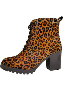 Bota Cut Out Boot Tratorada Animal Print