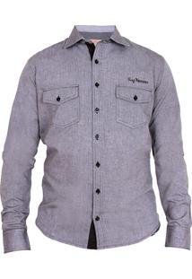 Camisa Tony Menswear De Algodão Cinza