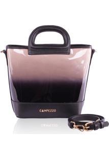 Bolsa Bucket Bag Campezzo Verniz Degradê - Tricae