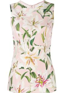 Dolce & Gabbana Floral Vest Top - Rosa