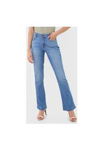 Calça Jeans Dzarm Bootcut Casual Azul