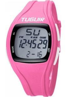 Relógio Tuguir Digital Feminino - Feminino-Rosa