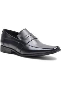 Sapato Social Lsb Shoes Conforto Espumado Masculino - Masculino-Preto