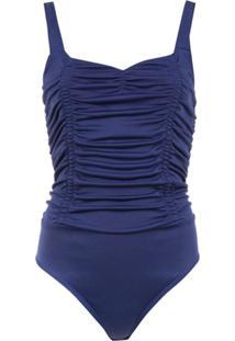 Tufi Duek Body Franzido - Azul