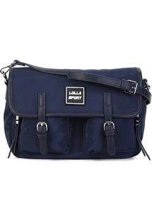 Bolsa Santa Lolla Handbag Nylon Feminina - Feminino-Marinho