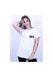 Camiseta Corte A Fio Bilhan 90S Branca