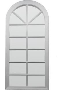 Espelho De Parede Veneza 33X76Cm Branco
