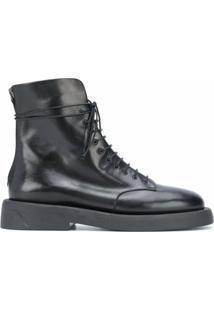 Marsèll Ankle Boot Com Cadarço - Preto
