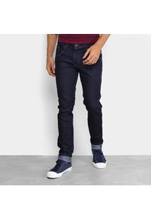 Calça Jeans Slim Coffee Lisa Masculina - Masculino-Azul Escuro