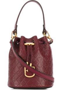 Furla Corona Drawstring Bucket-Bag - Vermelho