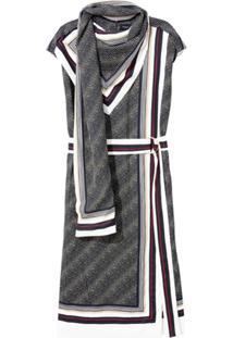 Proenza Schouler Vestido Sem Mangas Estampado - Preto