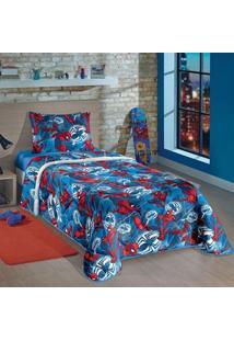 Edredom Solteiro Lepper Spider Man Azul