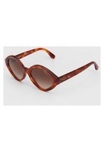 Óculos De Sol Vogue Geométrico Caramelo