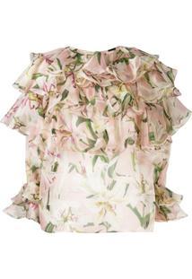Dolce & Gabbana Blusa Com Estampa Floral - Neutro