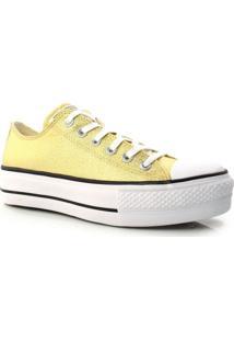 Tênis Converse All Star Dourado Flatform Original