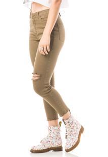 Calça Jeans Eventual Skinny Verde