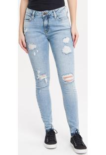 Calça Jeans Five Pockets Ckj 001 Super Skinny - 34